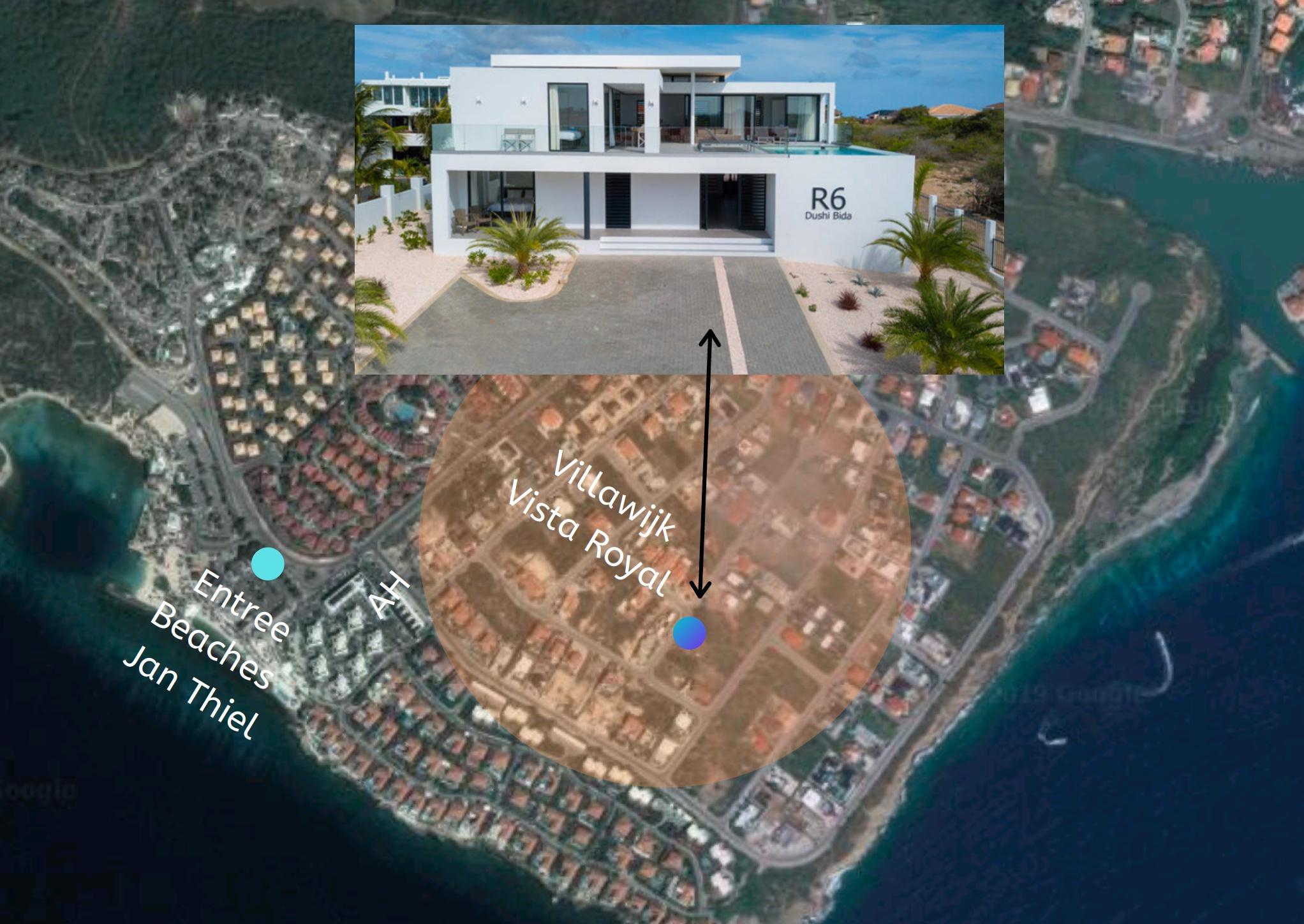 Villa R6 met zeezicht